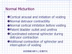 normal micturition