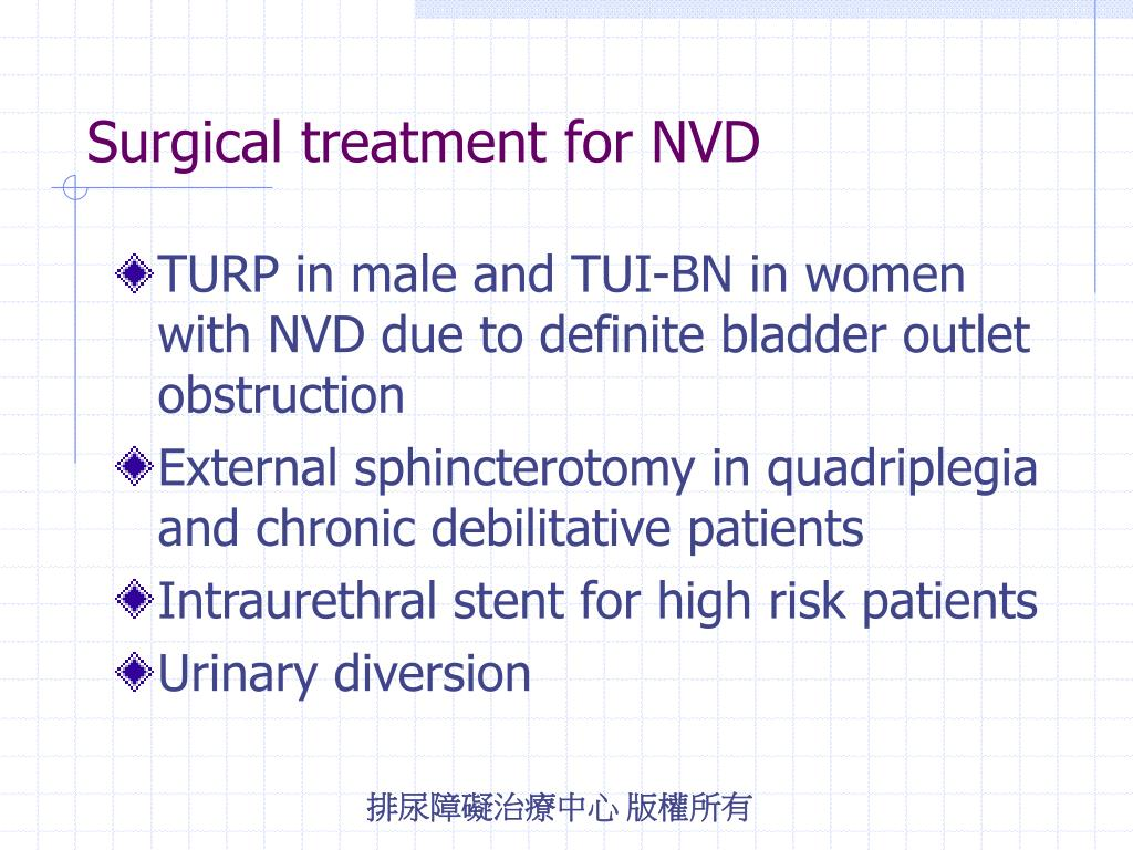 Surgical treatment for NVD