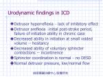 urodynamic findings in icd