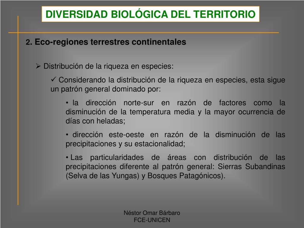DIVERSIDAD BIOLÓGICA DEL TERRITORIO