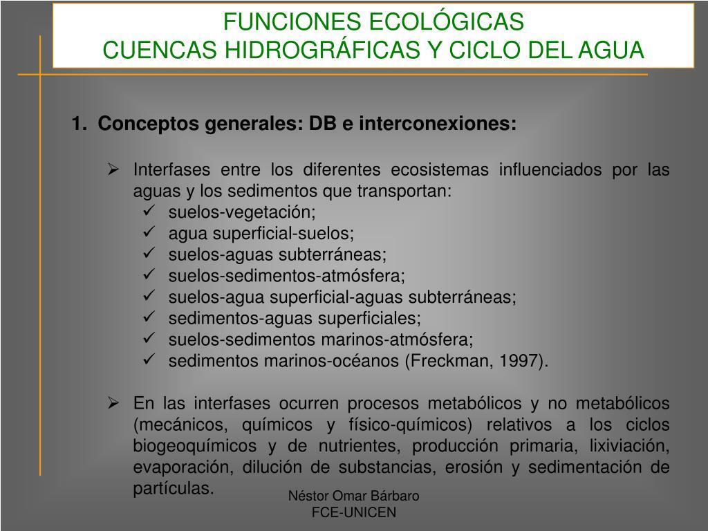 FUNCIONES ECOLÓGICAS
