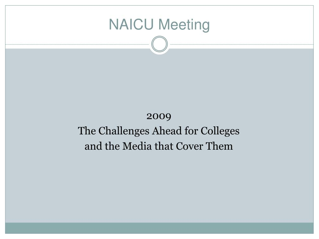 NAICU Meeting