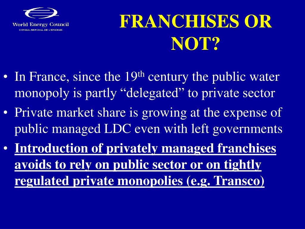 FRANCHISES OR NOT?