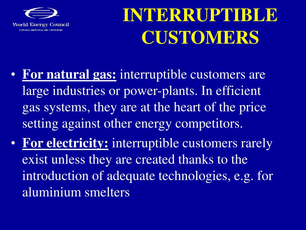 INTERRUPTIBLE CUSTOMERS