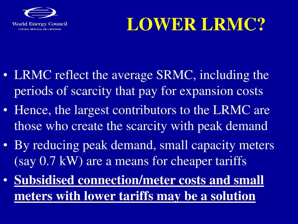 LOWER LRMC?