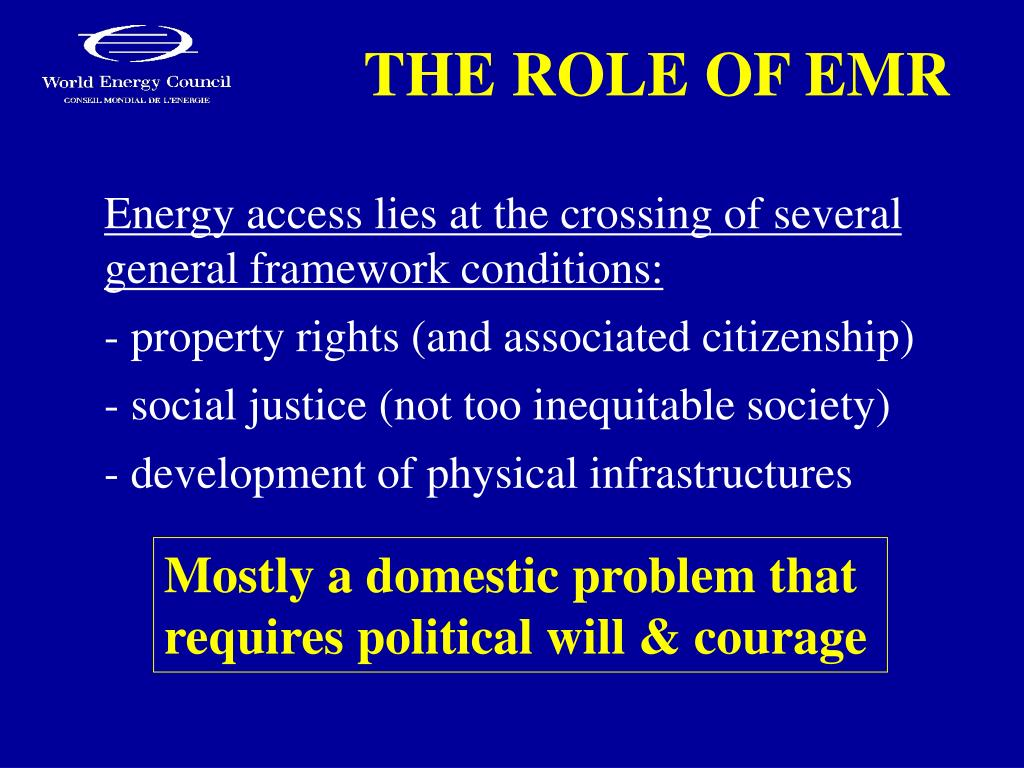 THE ROLE OF EMR