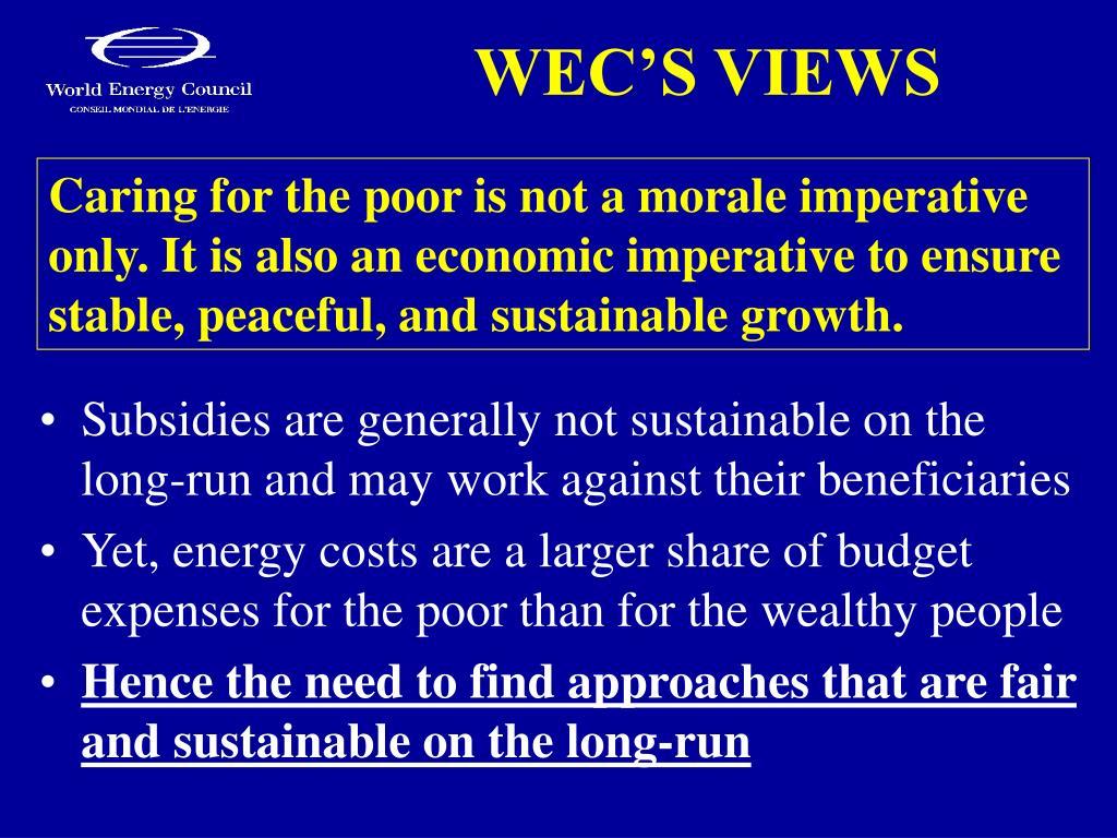 WEC'S VIEWS