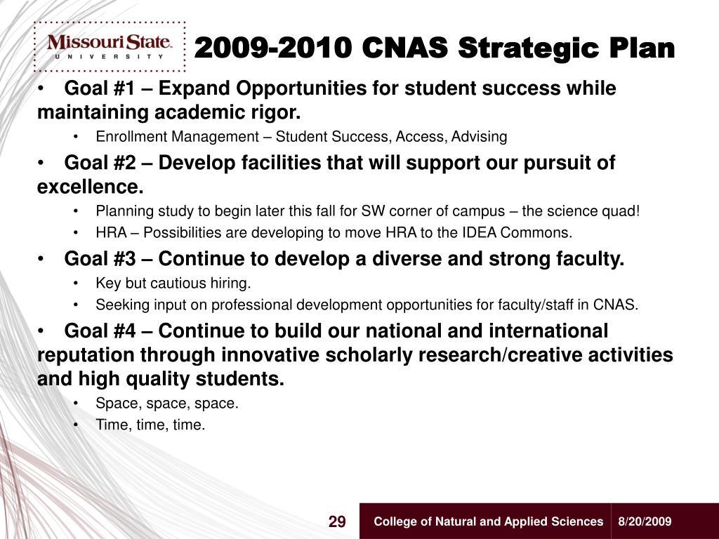2009-2010 CNAS Strategic Plan