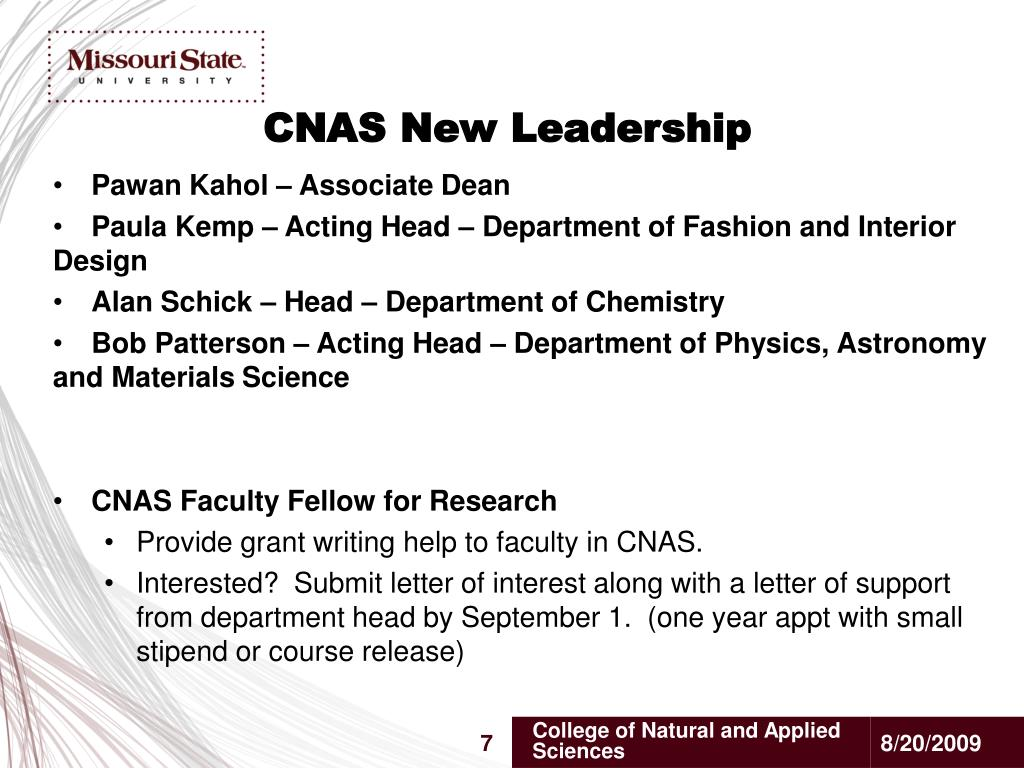 CNAS New Leadership