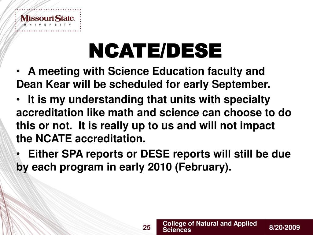NCATE/DESE