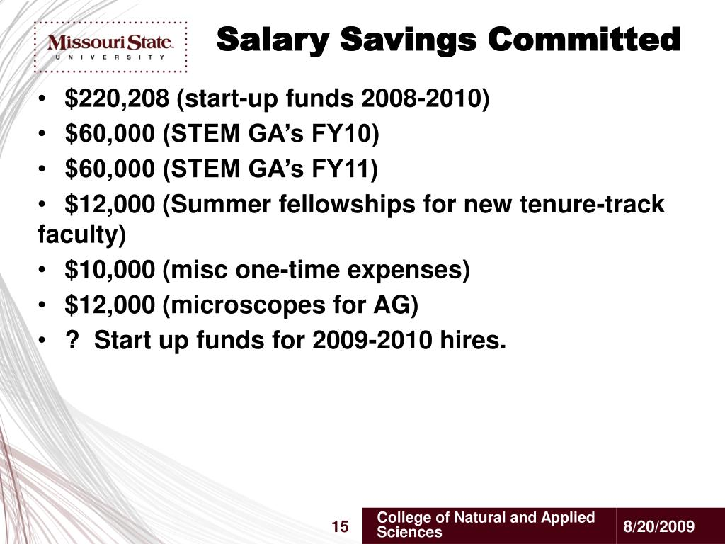Salary Savings Committed