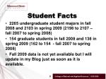 student facts
