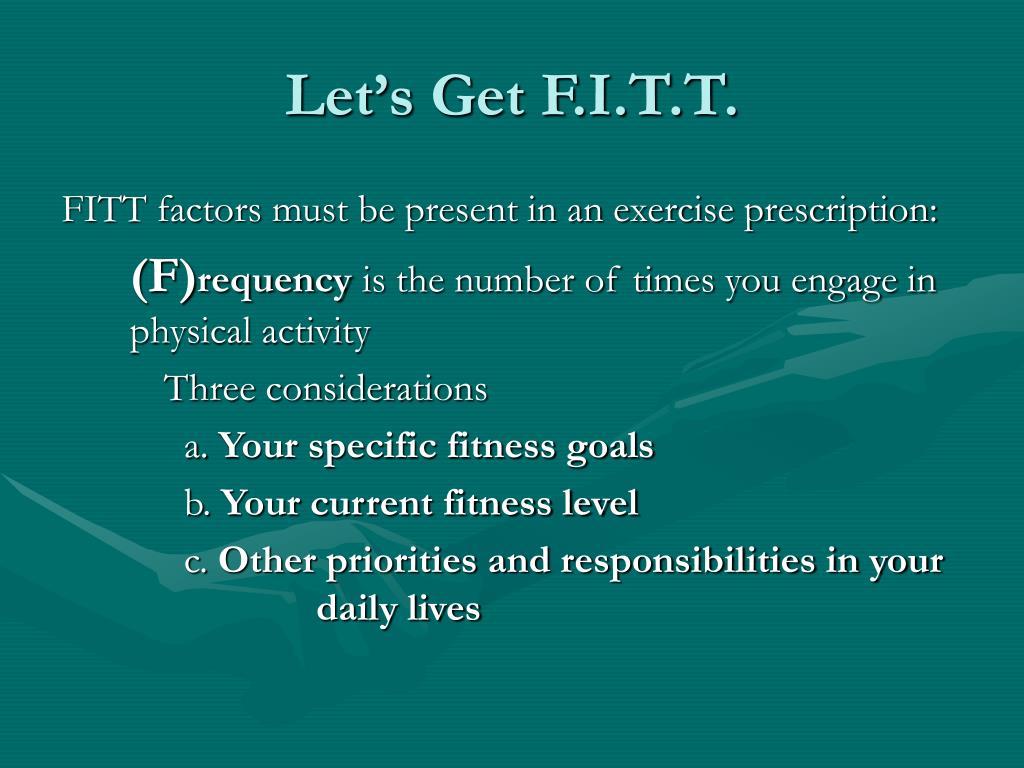Let's Get F.I.T.T.