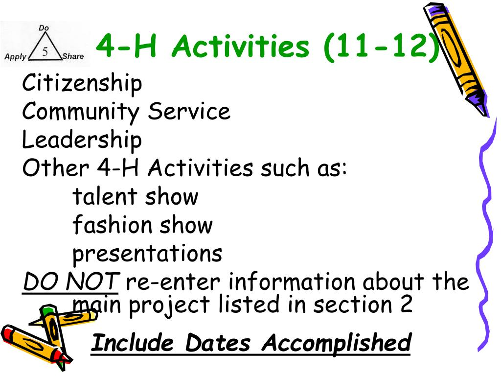 4-H Activities (11-12)