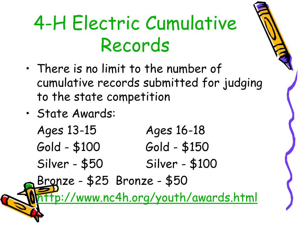 4-H Electric Cumulative Records