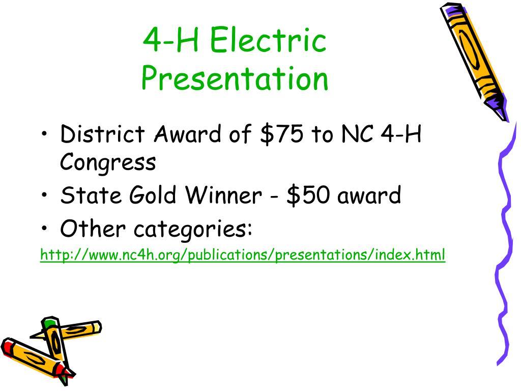4-H Electric Presentation