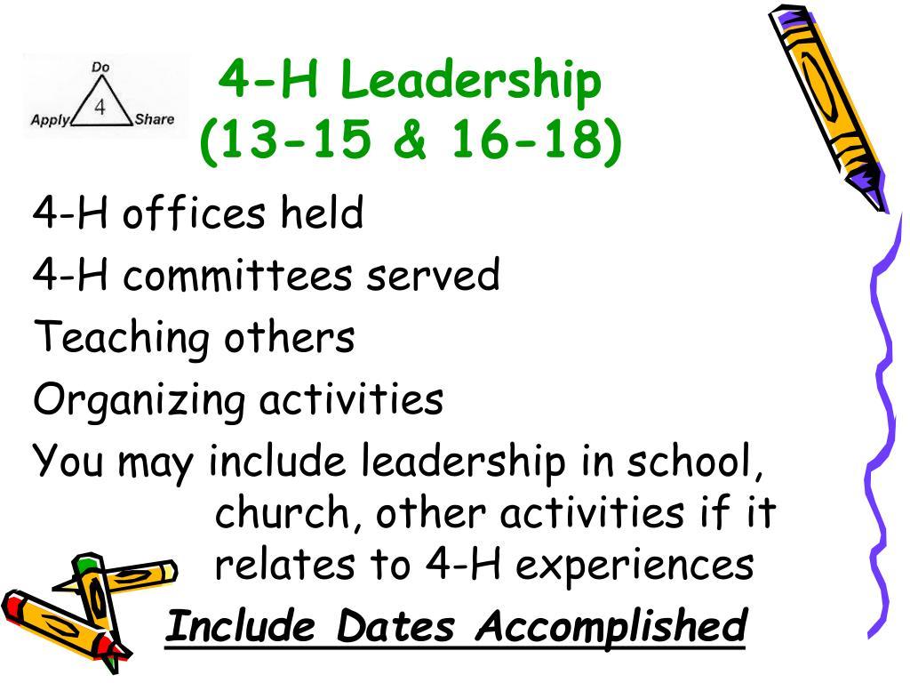 4-H Leadership