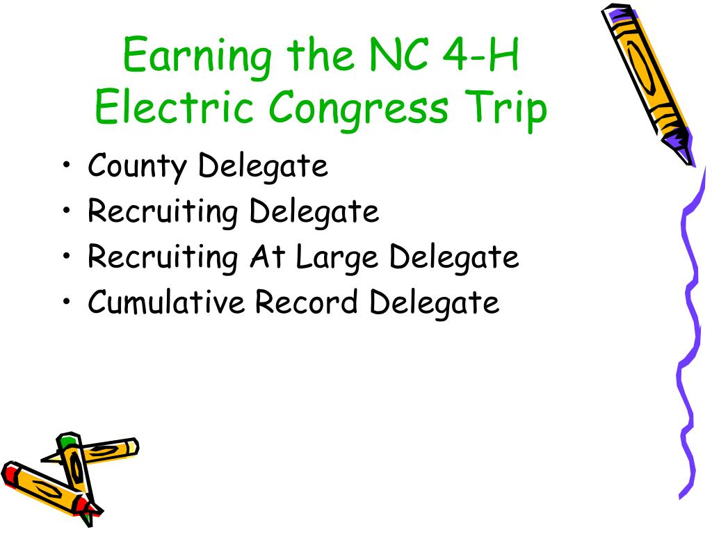 Earning the NC 4-H Electric Congress Trip