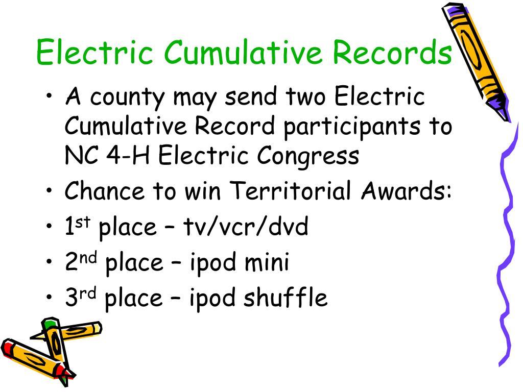 Electric Cumulative Records