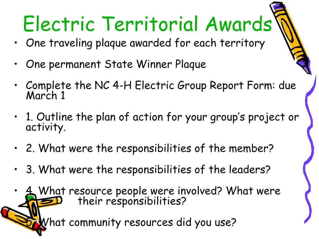 Electric Territorial Awards