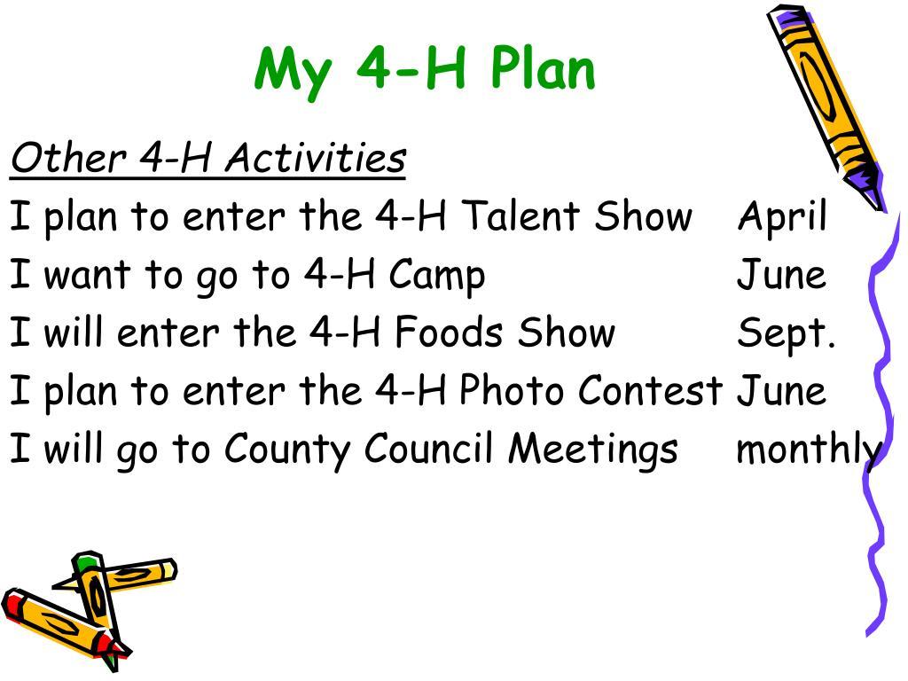 My 4-H Plan