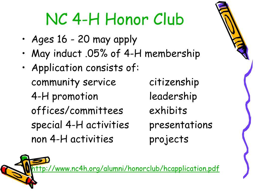 NC 4-H Honor Club