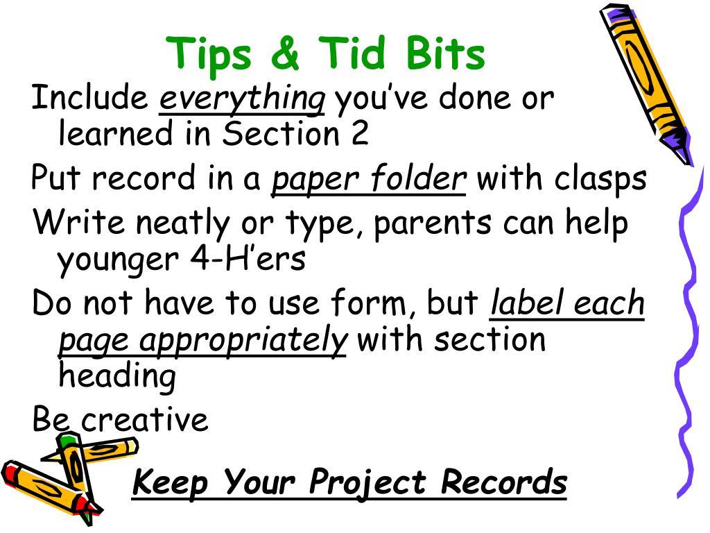 Tips & Tid Bits