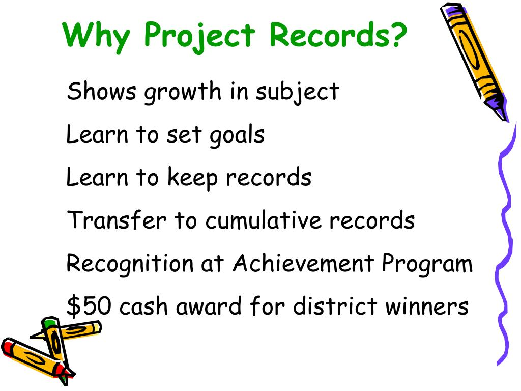 Why Project Records?