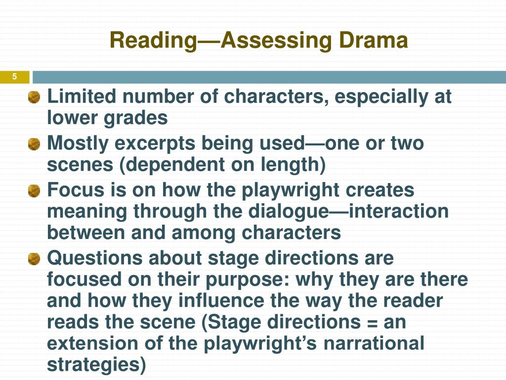 Reading—Assessing Drama