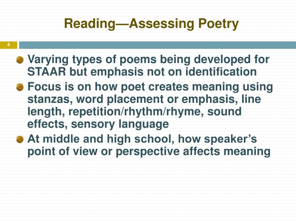 Reading—Assessing Poetry