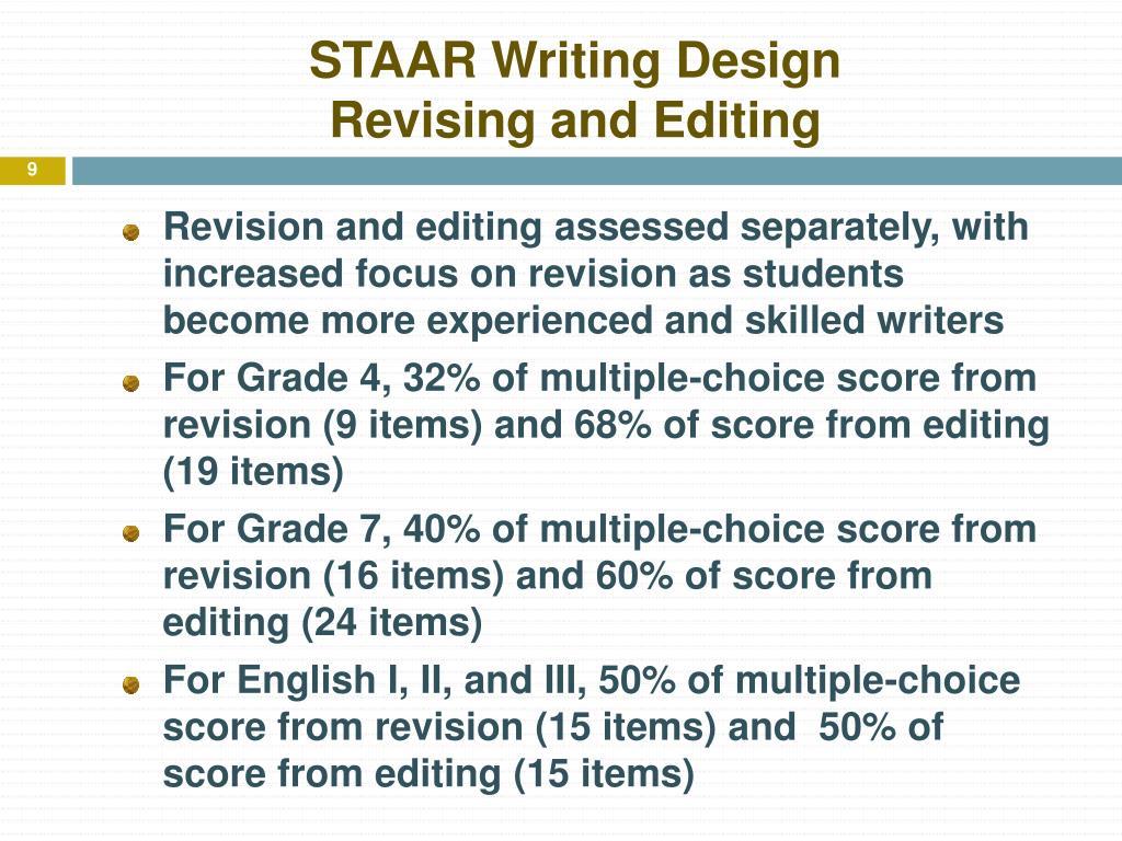 STAAR Writing Design