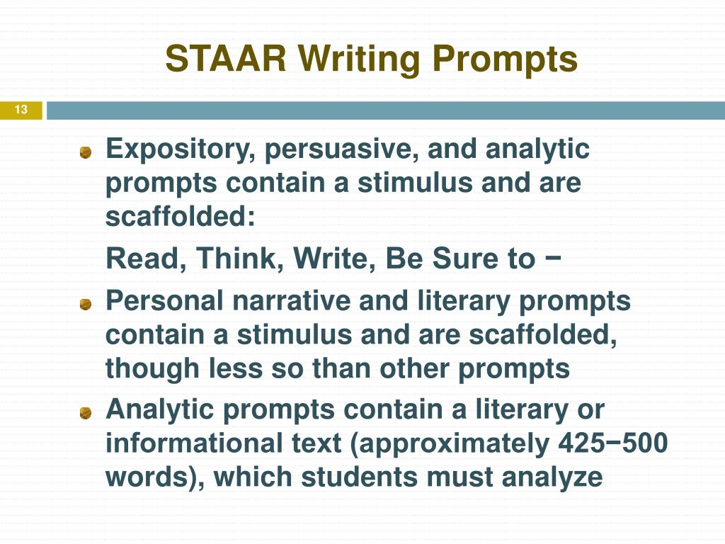 STAAR Writing Prompts