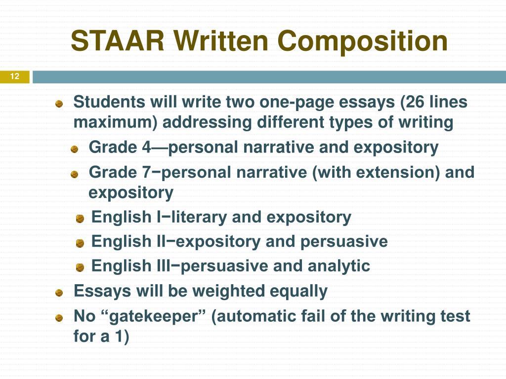 STAAR Written Composition