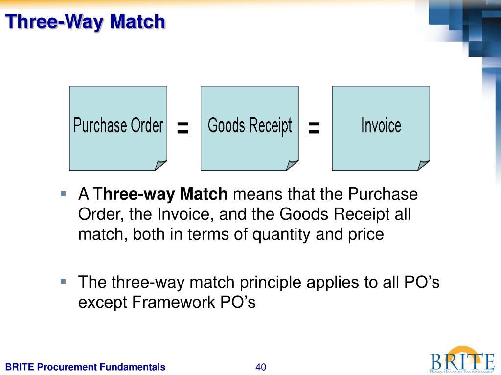 Three-Way Match