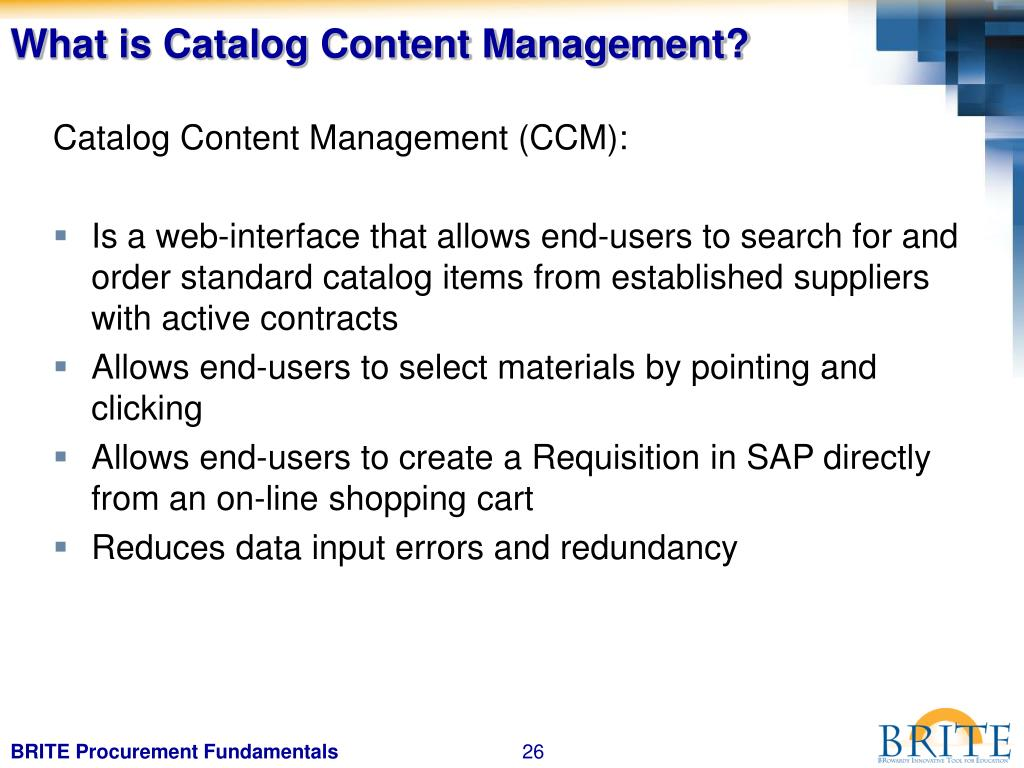 What is Catalog Content Management?