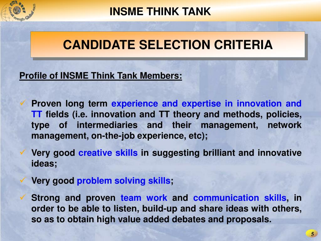 INSME THINK TANK