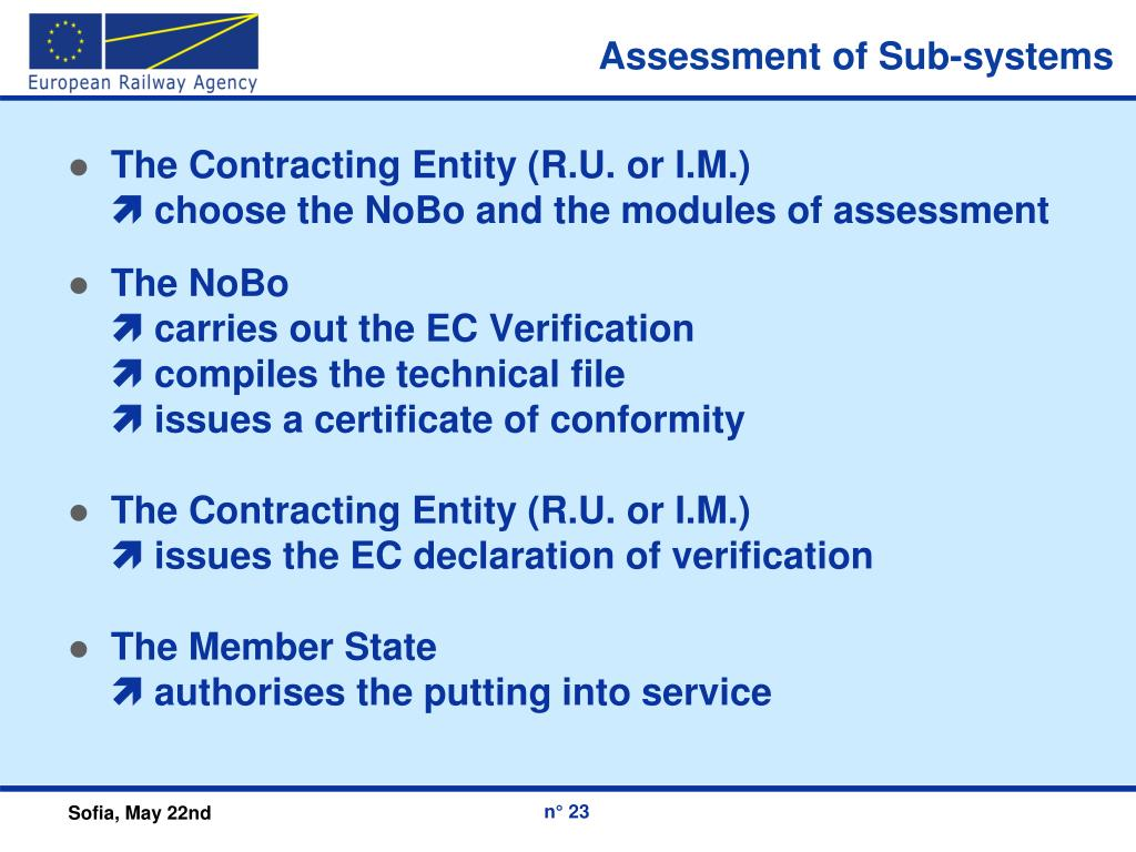 Assessment of Sub-systems