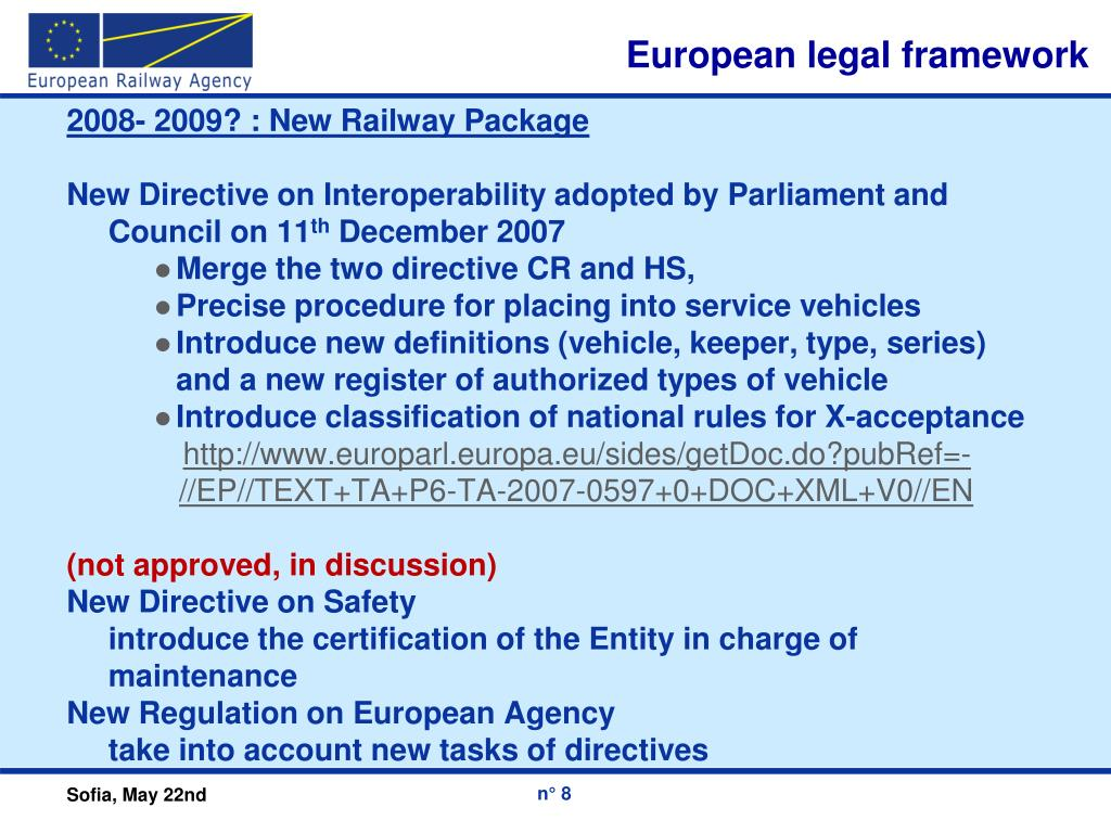 European legal framework