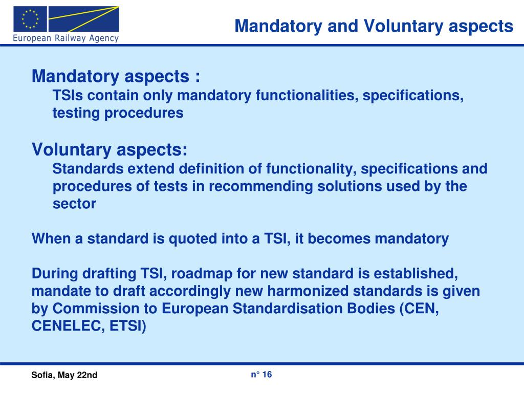 Mandatory and Voluntary aspects