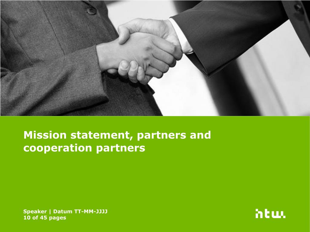Mission statement, partners and