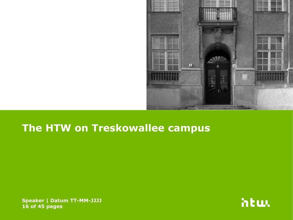 The HTW on Treskowallee campus