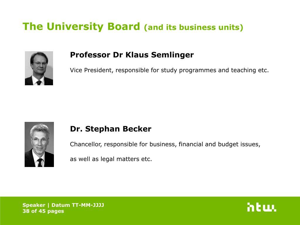 The University Board