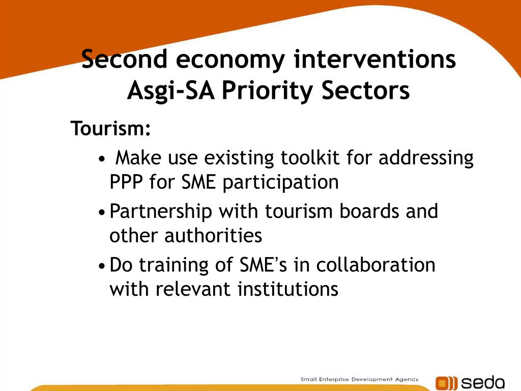 Second economy interventions Asgi-SA Priority Sectors