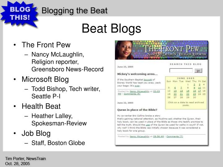 Beat Blogs