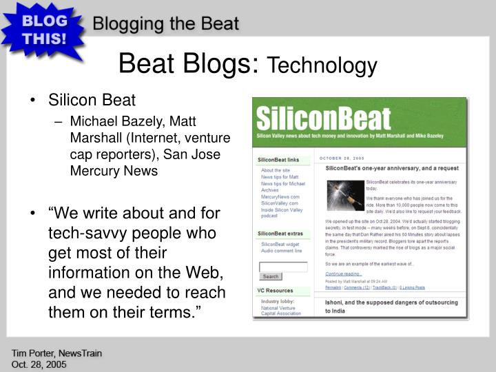 Beat Blogs: