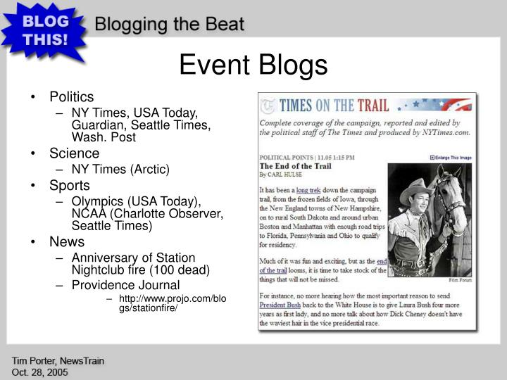 Event Blogs