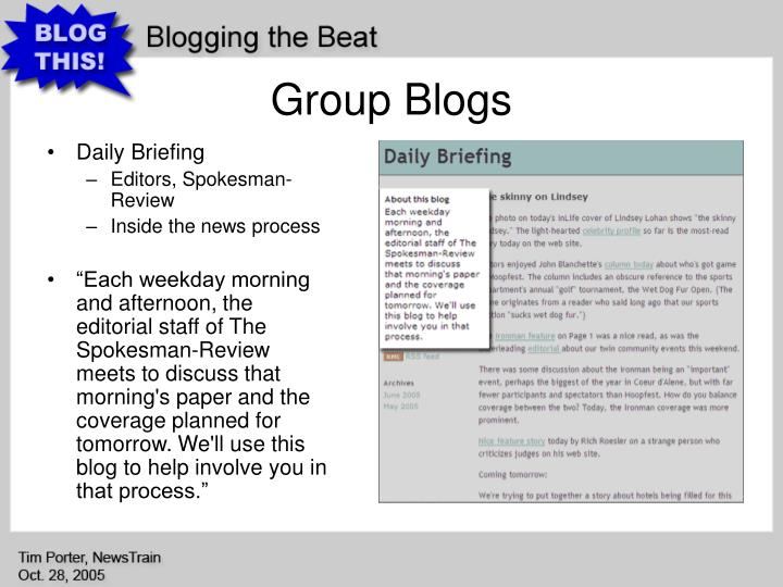 Group Blogs