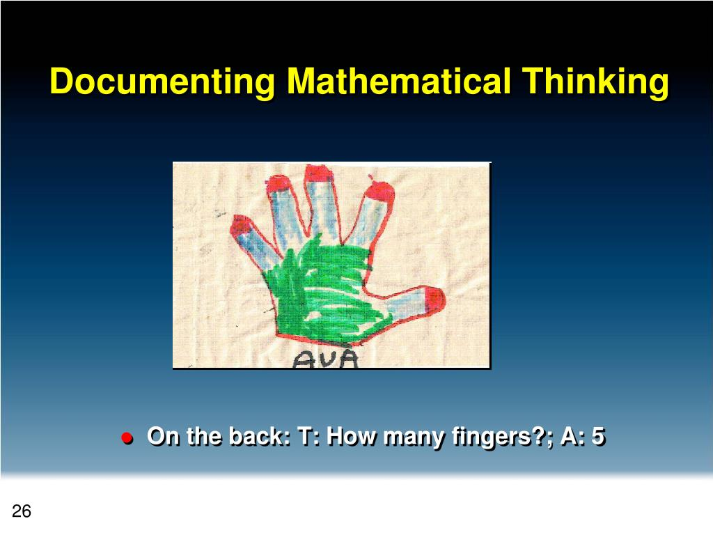 On the back: T: How many fingers?; A: 5