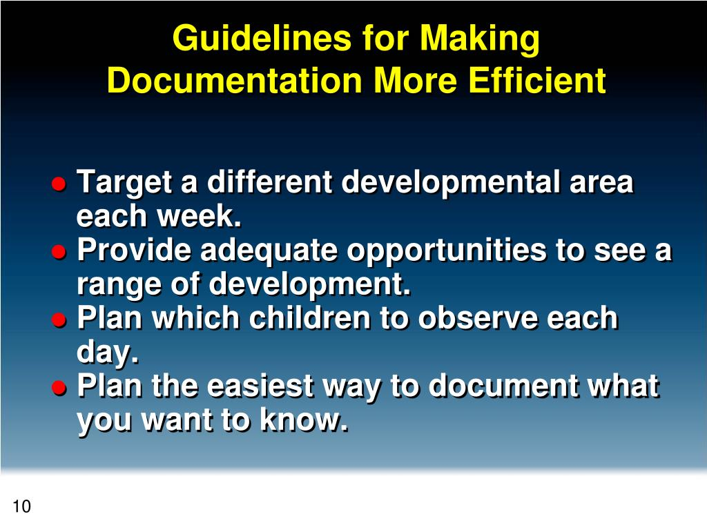 Guidelines for Making