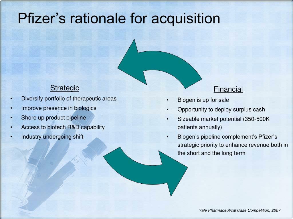 Pfizer's rationale for acquisition
